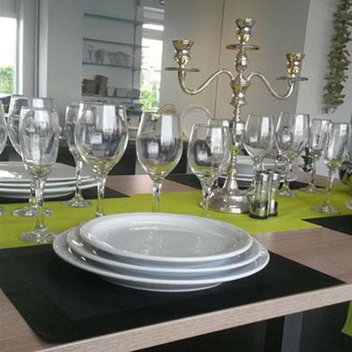 Servies - borden, glazen bestek voor Horeca